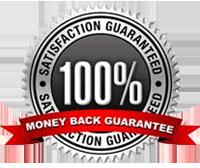 60 Day, 100 Percent Money Back Guarantee