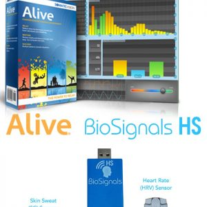 Alive Clinical Biofeedback with BioSignals Dual SCL HRV Sensor