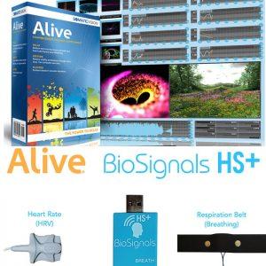 Alive Pioneer Biofeedback BioSignals Plus 4 Sensor Hardware SCL HRV Sensor Hardware - a Complete Professional Biofeedback System