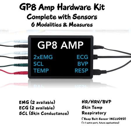 GP8 Amp Respiratory Hardware Complete Kit with 6 Sensor Measures